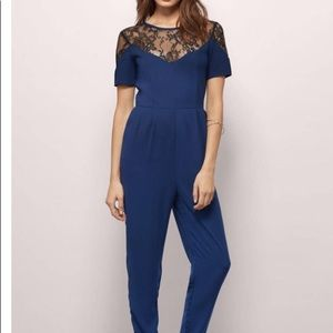 Tobi Other - Tobi Lace Navy Jumpsuit